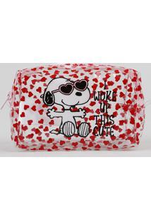 Nécessaire Feminina Snoopy Estampada Vermelha - Único