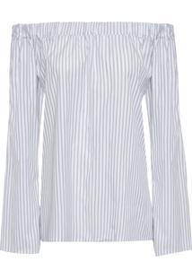 Blusa Feminina Top Beth Listrado - Branco