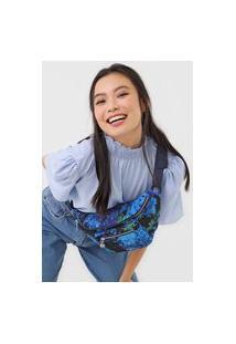 Pochete Transversal Belly Bag Camoflower Azul