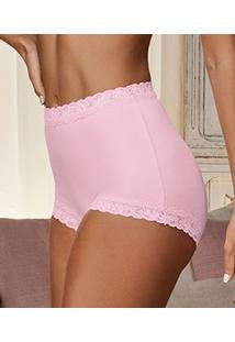 Calça Clássica Cotton Com Renda Demillus Secret (57001)
