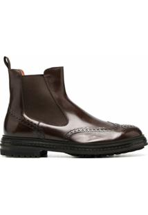 Santoni Ankle Boot Oxford - Marrom