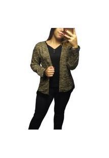 Cardigan Malha Tweed