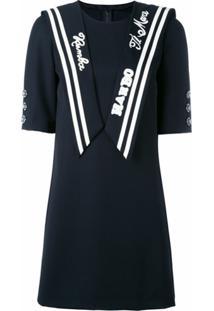 Dolce & Gabbana Vestido Marinheiro - Azul