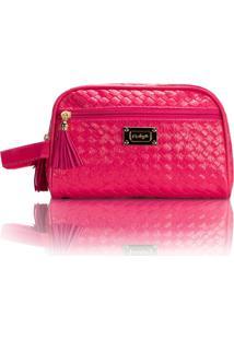 Necessaire De Mão Grande Rubys Multiuso Pink