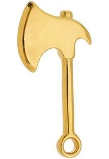 Pingente Machado Tudo Joias De Aço Inox Modelo Dourado - Unissex-Dourado