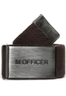 Cinto M. Officer Logo Marrom