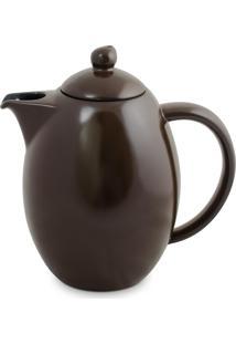 Bule Colonial 1.5 Litros Em Cerâmica Chocolate Ceraflame