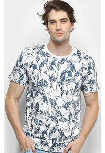 Camiseta All Free Galhos & Folhas Masculina - Masculino-Branco