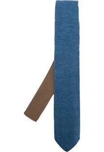 Lardini Gravata De Tricô - Azul