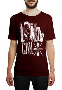 Camiseta Hshop London Girl - Vinho