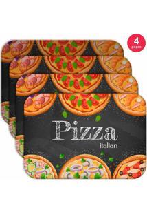 Jogo Americano Love Decor Wevans Pizza Italian Kit Com 4 Pçs