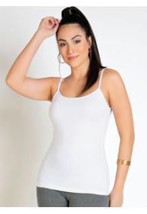 Blusa Feminina Branca Com Alças Finas