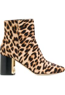 Tory Burch Bota Gigi Animal Print - Neutro