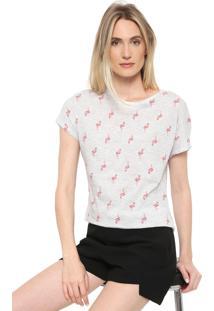 Blusa Dzarm Flamingo Cinza