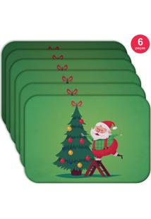 Jogo Americano Love Decor Wevans Cute Noel Green Kit Com 6 Pçs