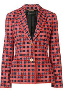 Versace Blazer Estampado - Vermelho
