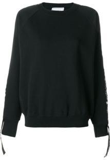 Forte Dei Marmi Couture Blusa De Moletom Com Logo - Preto