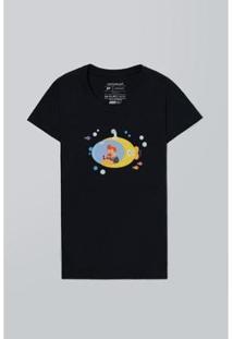 Camiseta Feminina Mundo Bita Submarino Reserva - Feminino