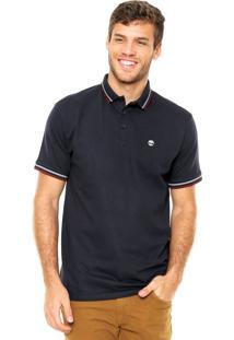 Camisa Polo Timberland Slim Azul-Marinho