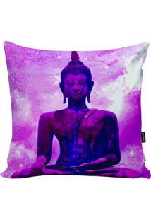 Capa Para Almofada Buda- Pink & Azul Escuro- 45X45Cmstm Home