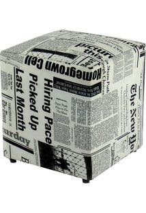 Puff Quadrado Box Jornal