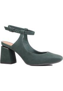 Sapato Dakota Scarpin Aberto Salto Grosso