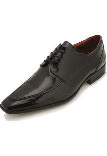 Sapato Social Pro Mais Pr18-11049Co Verniz Preto Liso