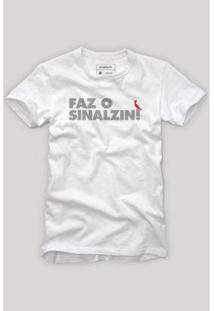 Camiseta Reserva Faz O Sinalzin Masculina - Masculino-Branco