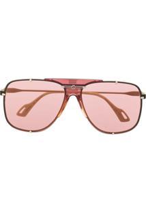 Gucci Eyewear Óculos De Sol Aviador - Dourado