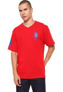 Camiseta U.S. Polo Logo Vermelha