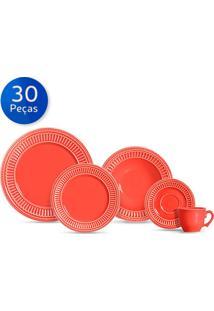 Aparelho De Jantar 30 Peças Poppy - Scalla - Coral