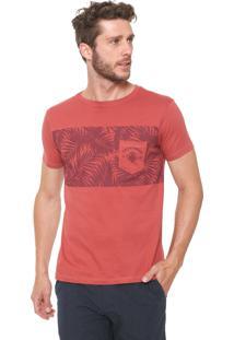 Camiseta Yacht Master Folhagens Vermelha