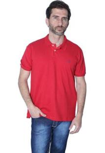 Camisa Polo Mister Fish N·Utico Masculina - Masculino-Vermelho