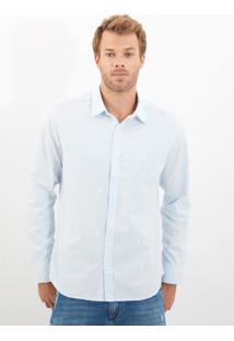 Camisa John John Jared Azul Masculina (Azul Claro, P)