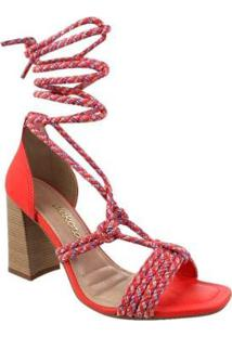 Sandália Dakota Salto Alto Acerola Feminina - Feminino-Vermelho Claro