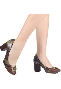 Sapato Scarpin Jorge Bischoff Salto Metal Marrom