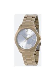 Relógio Feminino Lince Lrg4560L Kv18S2Kx Analógico 5Atm + Conjunto Semijóia   Lince   Azul   U
