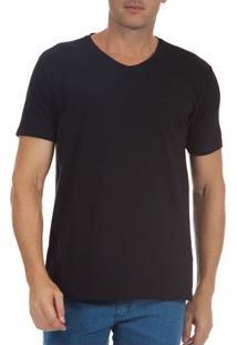 Camiseta Masculina Preta Lisa Upper - G