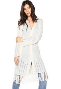 Kimono Colcci Tricot Loose Bege