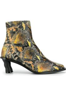 Reike Nen Ankle Boot Animal Print - Laranja