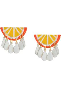 Susan Alexandra Par De Brincos Orange Dangle - Amarelo