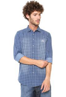 Camisa Jeans Sommer Xadrez Azul