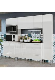 Cozinha Alice 0429T 9 Portas C/ Tampo – Genialflex - Branco