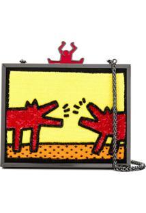 Alice+Olivia Alice+Olivia X Keith Haring Clutch Bag - Amarelo
