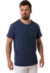Camiseta Osmoze Gola Careca - Masculino-Marinho