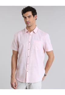 Camisa Comfort Com Bolso Coral