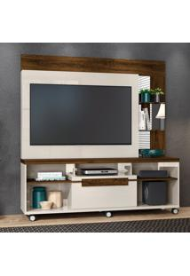 Estante Para Home Theater 50 Polegadas Marcos 160 Cm Off White Savana