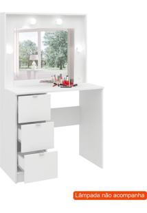 Penteadeira Com Espelho Lis Branca