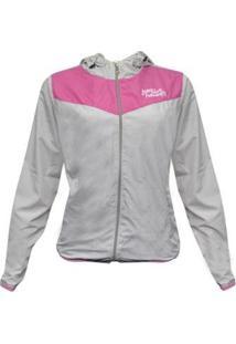 Jaqueta Traxart Corta Vento Feminina - Feminino-Cinza+Rosa