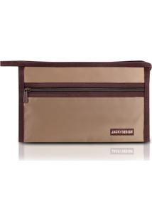 Necessaire Envelope Jacki Design Essencial Iii Marrom
